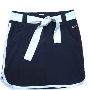 Nike Golf Dri Fit Skirt 0 Navy Light Blue Tie